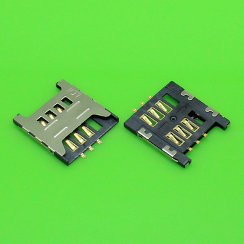 ChengHaoRan 1 Piece SIM card socket slot holder connector for Samsung GT E1200M E1200 I519 I939D I939i. size:17.5*16,KA-186 image