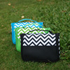 Wholesale New Arrival And Ready In Stock Chevron Toiletry Bag Made Of Polyester With Free Shipping