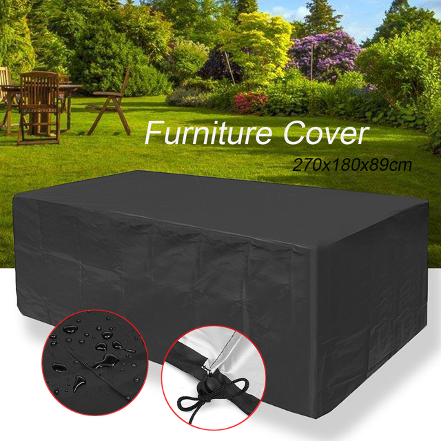 Waterproof Outdoor Patio Furniture Rain Cover Waterproof Wicker Sofa