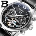 Switzerland BINGER watches men luxury brand Tourbillon sapphire luminous multiple functions Mechanical Wristwatches B8602-5