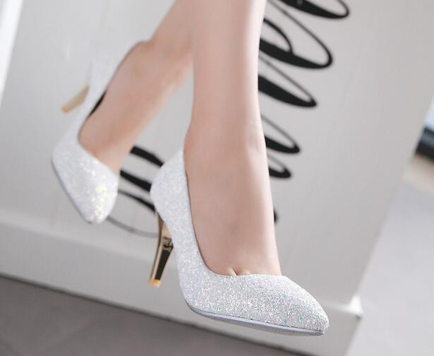 Latest Designed women wedding shoes mixed colors bling pumps thin heels high heels pumps sexy shallow pointed toe ladies shoes тени для век essence live laugh celebrate eyeshadow 01 цвет 01 best friends are forever variant hex name dcc3c3