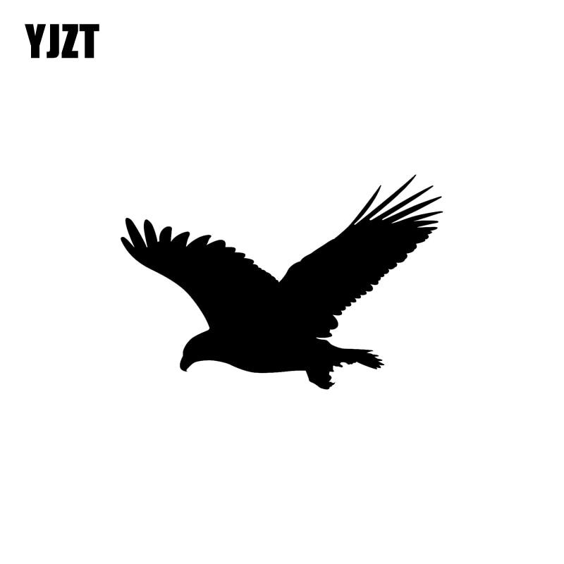 YJZT 16.6CM*10.9CM Fun Eagle Bird Vinyl Car Window Sticker Black/Silver Decal Car-styling C11-1078