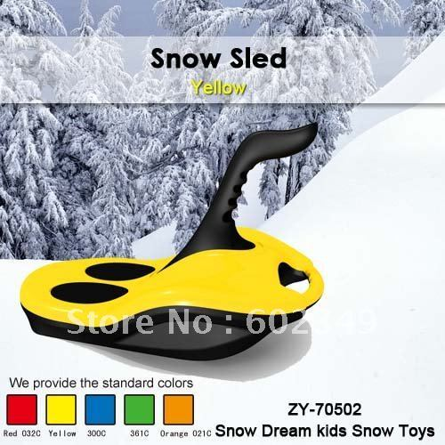 Free Shipping Hot Sale Kids Winter plastic snow outdoor sport - snow sled(yellow/4PCS/CTN)