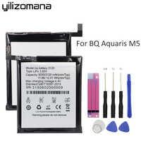 Yilizomana Batteria Del Telefono Originale 3120 per BQ Aquaris M5 Batterie Ad Alta Capacità 3120 mah di Ricambio di Alta Qualità