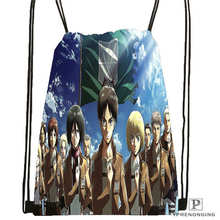 Custom Eren Jaeger Shingeki No Kyojin Anime Drawstring Backpack Bag Cute Daypack Kids Satchel (Black Back) 31x40cm#2018612-01-30