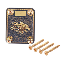 Black/Gold Guitar Neck Reinforcing Plate with Mounting Screws With 4 Holes for Fender Electric Guitar Bass Replacement Parts