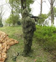 Outdoor Camping Sniper Suit Hunting Gillie Camouflage Tactical Clothing Paintball Green Grass Camo Multicam Jacket Pants Sets