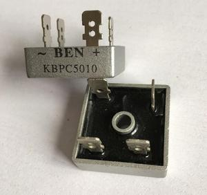 10pcs 50A 1000V Metal Case Bridge Rectifier SEP KBPC5010