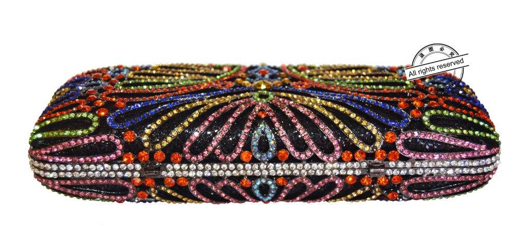 Oro a largo bolsos de Embrague Mujeres cristalino De Lujo bolsos de Tarde de Las