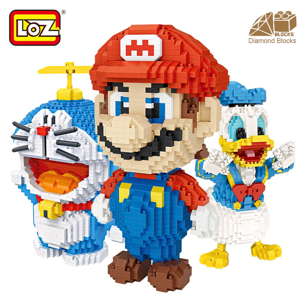 все цены на LOZ Diamond Blocks Diy Japanese Anime Action Figures Assembly Toys for Children Educational Nano Bricks Building Blocks Gift онлайн