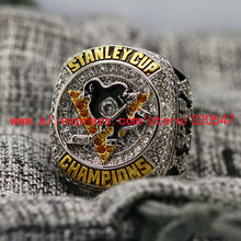 On Sale 2016 Pittsburgh Penguins Stanley Cup Copper Championship Ring 7-15Size Engraved Inside CROSBY Fans Gift Ship Today