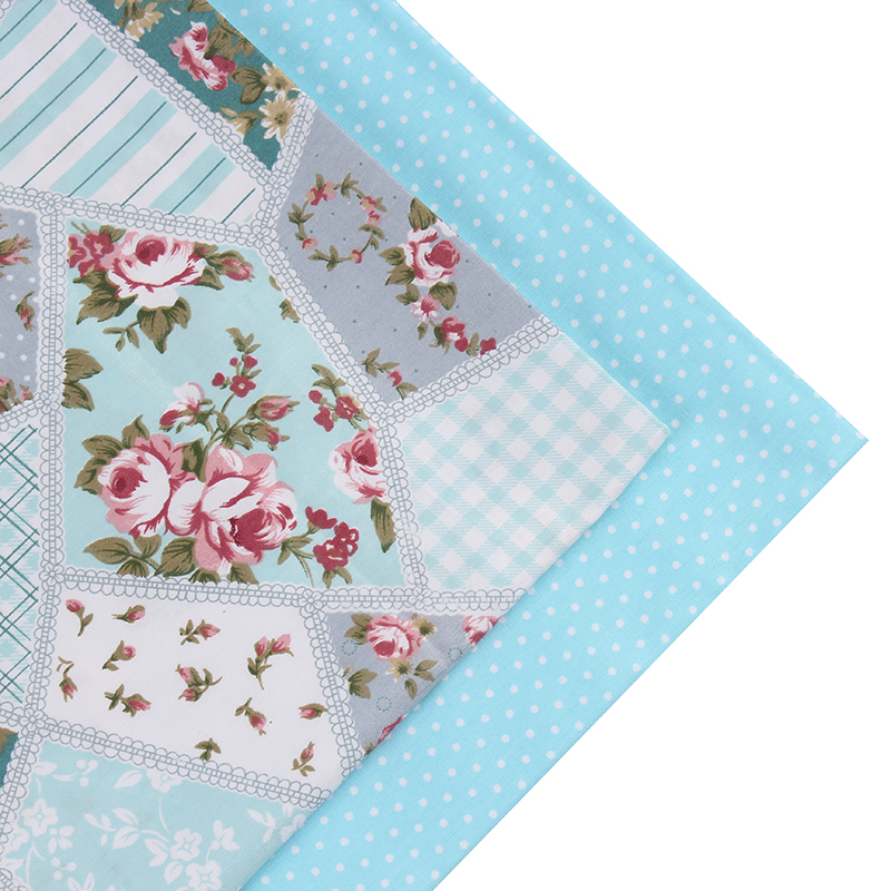 2016 New 2 pic/lot 40x50cm flower Cotton Patchwork fabric tecido sewing bedding bag fabrics tissu quilts Handmade Doll DIY Cloth