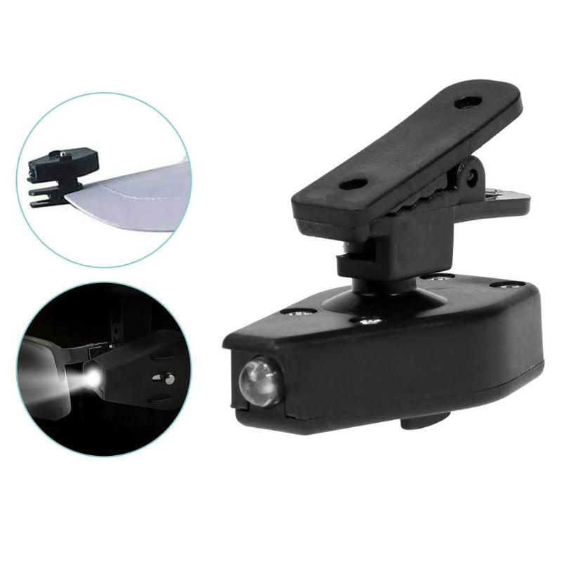 Mini LED Flashlight Clip-On Outdoor Fishing Light Eyeglass Clip Light Adjustable Universal Reading Lamp Fishing Accessories