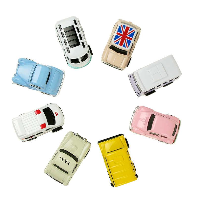8 Pcs/set Cute Mini Diecast Mobil Paduan Menarik Kembali Kendaraan Model Mainan Logam Berwarna-warni Indah Taksi Bus Mainan Paduan Mobil untuk Anak-anak Hadiah