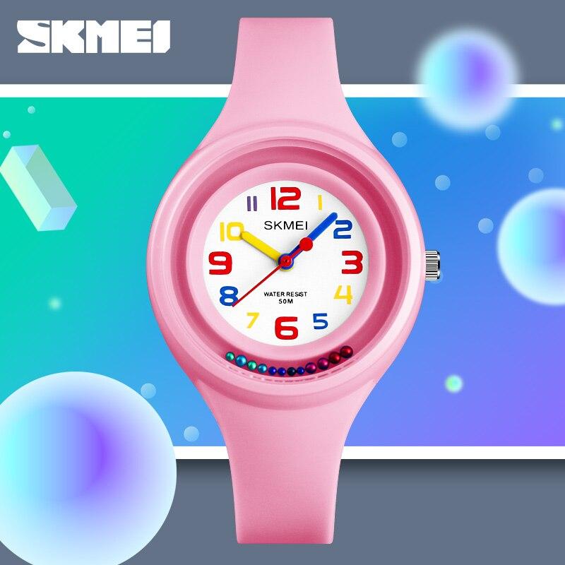 Kids Quartz Watches For Boys And Girls Student Watch Waterproof Sports Wristwatch Clock Relojes Top Luxury Brand SKMEI 2018