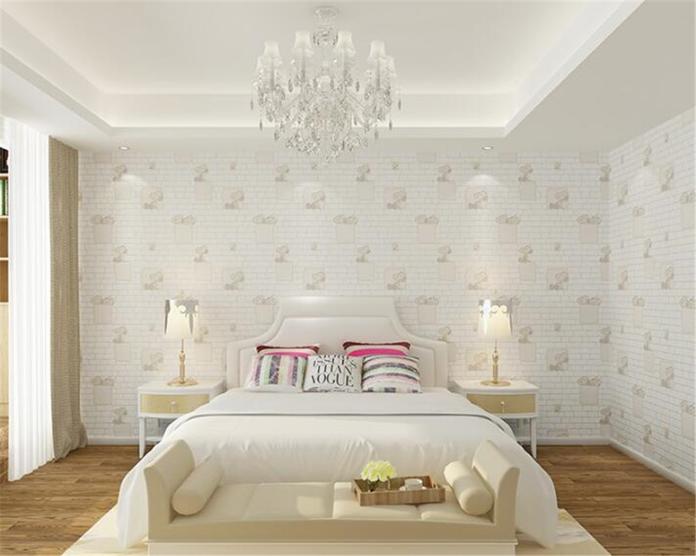 Model Wallpaper Kamar Us 30 38 39 Off Beibehang Children S Nonwoven Wallpaper Bedroom Boys Girls Room Clothing Store Hotels Fashion Simple Papel De Parede Wall Paper In