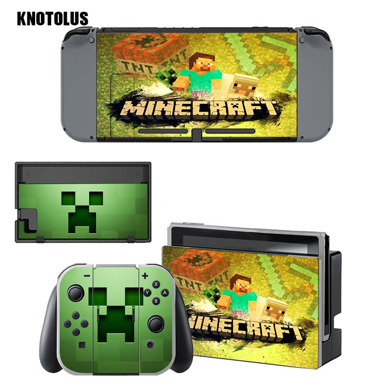 minecraft Game stickers Vinyl Skin Sticker For nintend