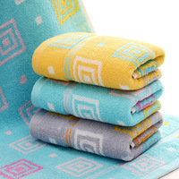 Cotton yarn-dyed jacquard padded baby towel back to the word large towel soft absorbent lint