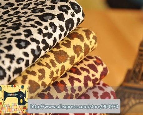6 unids Leopardo de algodón 24x24 Diseño Atractivo del remiendo del Algodón Fard