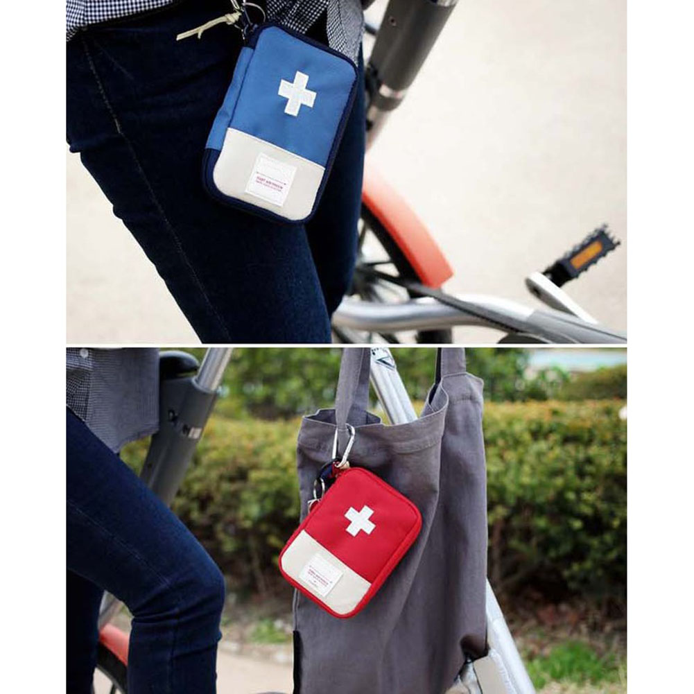 Newly Empty First Aid Bag Emergency Pouch Travel Medicine Pill Storage Bags Outdoor Survival Organizer DC128