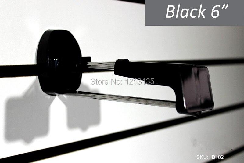 50 Stuks Wit Zwart Plastic Beveiliging Haken Voor Displays Slatwall