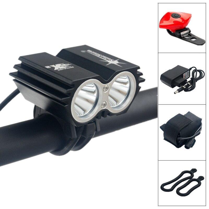 Цена за SolarStorm XM L U2 LED 5000Lm LED Передняя Фара Велосипед Свет фары + Аккумулятор + Зарядное Устройство + Велосипед задний фонарь Бесплатная Доставка