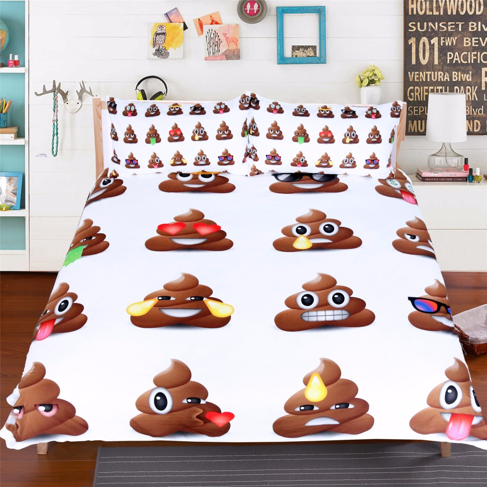 Moonpalace Poop Emoji Bettwäsche Set Queen Size Für Kinder Lustige Smiley Gesichter Bettdecke Mit Kissenbezüge 3 Stücke Cartoon 3d Abdeckung Bedding Set Bedding Set Queen Sizeemoji Bedding Sets Aliexpress