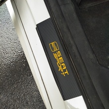 4Pcs Carbon Fiber Vinyl Sticker Car Door Sill Protector Scuff Plate For Seat LEON Cupra Ateca 20V20 Tarraco Arona IBL