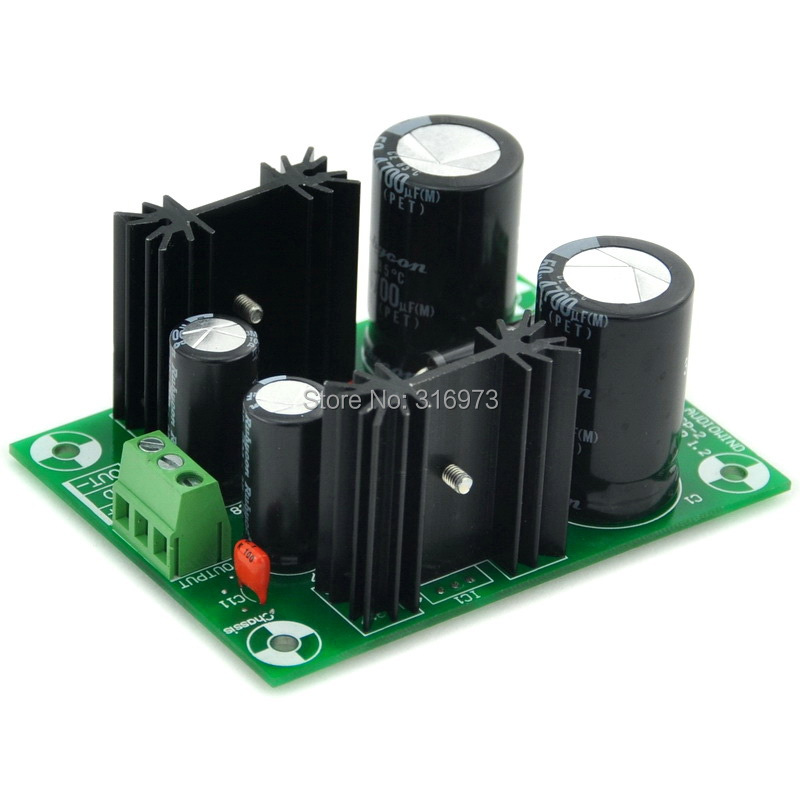+/-18V Positive/Negative Voltage Regulator Module Board, Based on 7818 7918+/-18V Positive/Negative Voltage Regulator Module Board, Based on 7818 7918