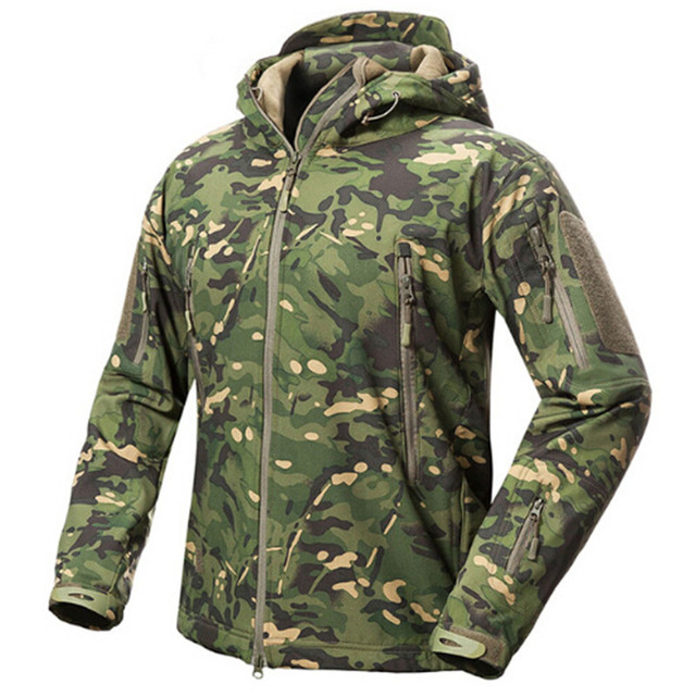 68bfb6027ea55 2018 Shark Skin V5 Soft Shell Tactical Military Jacket Men Waterproof  Winter Fleece Coat Army Clothes Camouflage Jackets