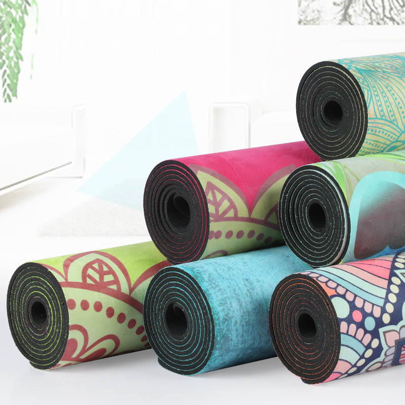 183*68*4mm Chamois Suede Natural RubberThick Yoga Mats Fitness Environmental Exercise Fitness Yoga Gymnastics Mats Indoor tpe yoga mats fitness skid environmental tasteless soft comfortable colchonete fitness yoga gym exercise mats 183 61 0 6 hw233