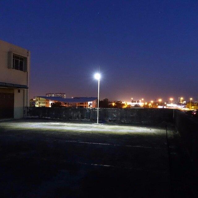 Alpha 1080X Outdoor Motion Sensor Solar Powered LED Pole Wall Street Path Solar Light For Garden 3 Working Mode Solar Lamp 6