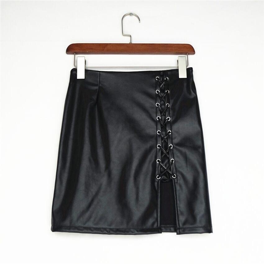 2019 Yeni Kalem Etek Kadın Siyah Bodycon Bandaj Etekler Fermuar - Bayan Giyimi - Fotoğraf 6