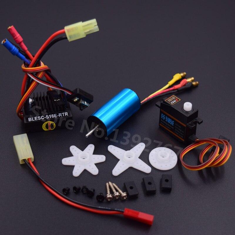 Brushless Modification Kit 2040 Brushless Moteur 4800KV et 25A ESC & 17G Servo Pour RC Voiture WLtoys 1/18 Échelle Modèles A959 A969 A979