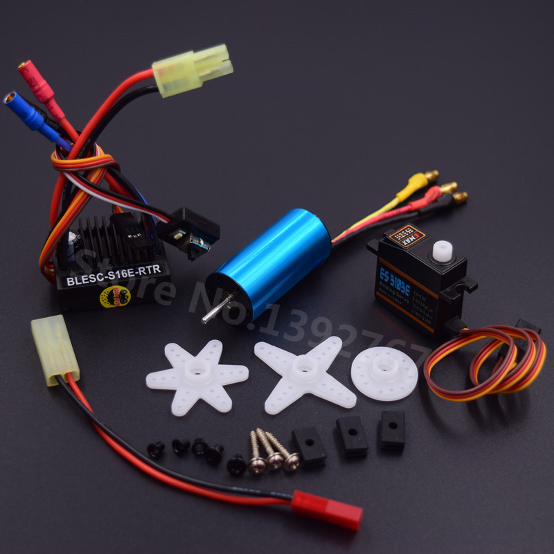 Brushless Modification Kit 2040 Brushless Motor 4800KV & <font><b>25A</b></font> <font><b>ESC</b></font> & 17G Servo For RC Car WLtoys 1/18 Scale Models A959 A969 A979 image