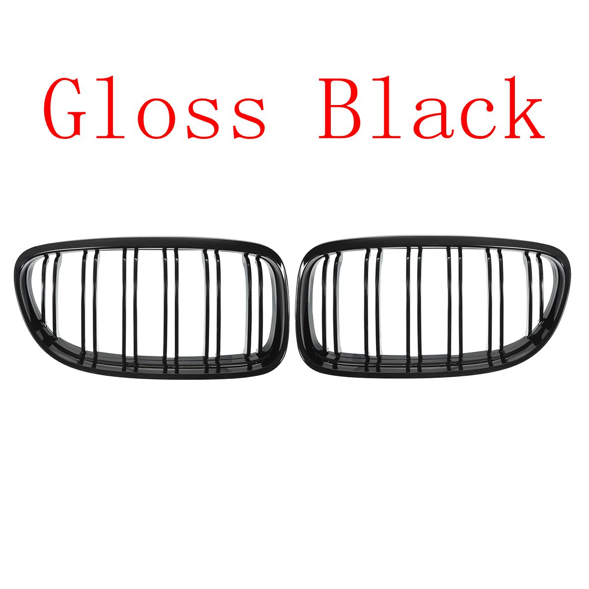 Image 4 - Pair Matte/Gloss Black Car Front Grille For BMW E90 LCI 3 Series Sedan/Wagon 09 11 Racing Grills-in Racing Grills from Automobiles & Motorcycles
