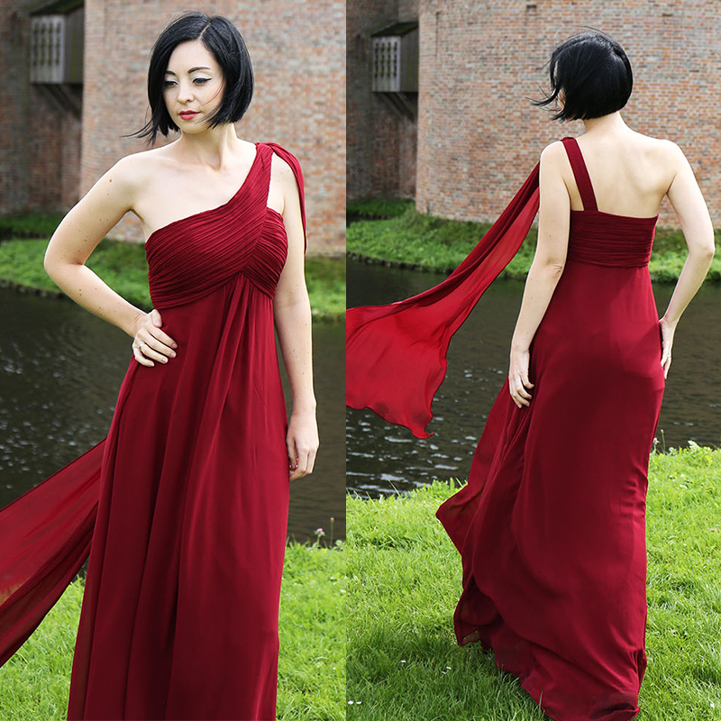 Image 2 - Ever Pretty Women Elegant Evening Dresses Long Burgundy Sexy A Line Sleeveless V Neck Long Backless Chiffon Party Evening Gowns-in Evening Dresses from Weddings & Events