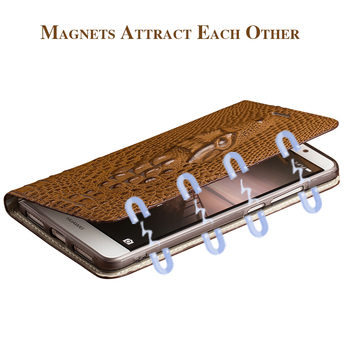 Brand mobile phone case for Sony Xperia a2 handmade crocodile head flip phone case mobile phone protection case Luxury