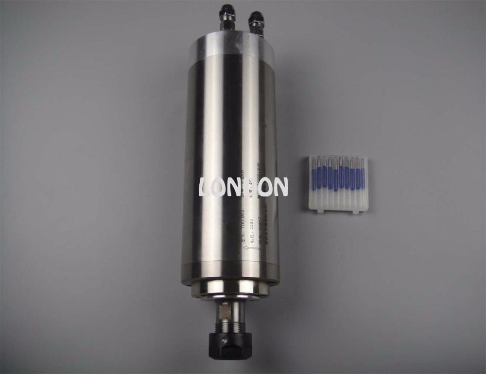 цена  CNC spindle kit ER20 2.2KW water cooling spindle +  CNC engraving bits  онлайн в 2017 году
