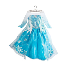 3-8Y Kid Girls Dresses Elsa Freeze Dress