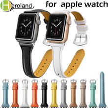 Купить с кэшбэком Strap genuine leather bands for Apple Watch 38mm 42mm 40mm 44mm smart watches band for i watch series 4 3 2 1 women's bracelet