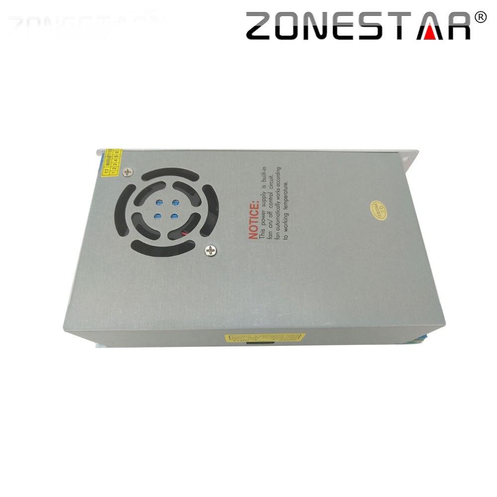 Zonestar comutação da fonte de alimentação para i3 bloco potência impressora 3d kit cobertura metal completo