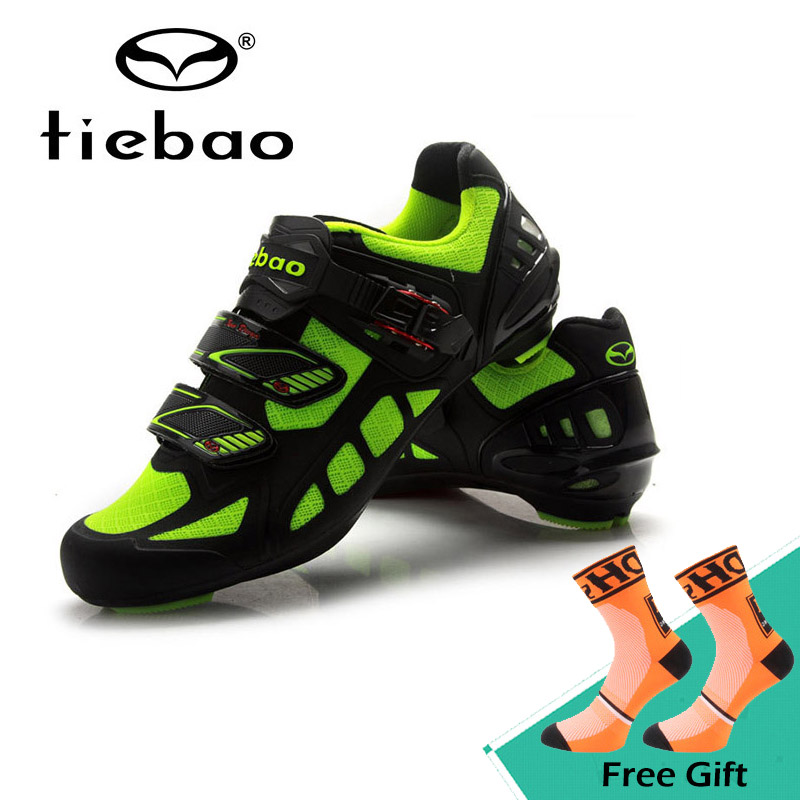 Tiebao New Professional Highway Cycling Shoes Breathable Road Bike Shoes Soft Self-locking Bicycle Shoes Bicicleta Equipment