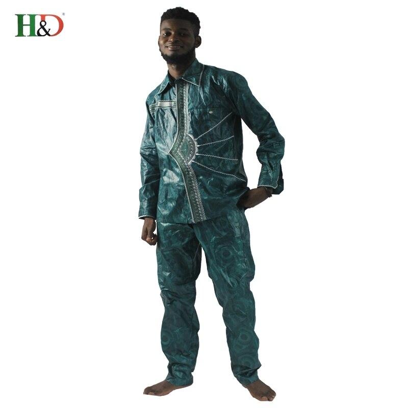2018 afrikanske menn klær nye mote bazin riche sett mann topper og - Nasjonale klær - Bilde 5