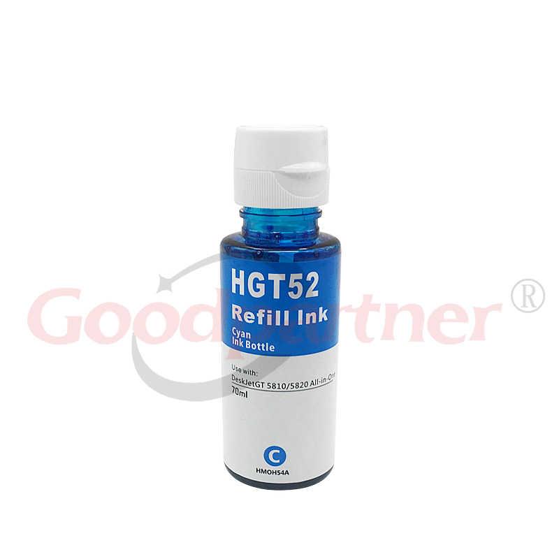 GT51 GT52 CISS tinta para rellenar botella Kit para HP DeskJet GT 5810 5820 GT5810 GT5820 51 52 tanque 310, 410, 318, 418 de inyección de tinta de recarga