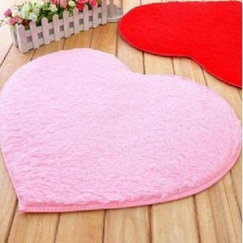 Alfombra de corazones gruesa suave y esponjoso, alfombrilla antideslizante de 40*28cm para piso para Baño, Dormitorio, cocina, alfombra para sala de estar
