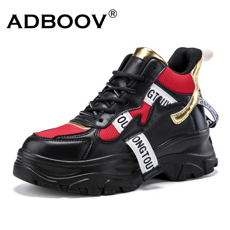 dc20505f768 ... ADBOOV New Fall Winter Fashion Women Shoes PU Leather Platform Sneakers  Women Ladies Trainers Casual Shoes ...