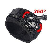 Armlet Wrist Rotação de 360 Graus para o Lado Da Banda Strap Mount Para GoPro herói 5 4 3 + 3 2 1 Sport Camera Para Gopro Acessórios