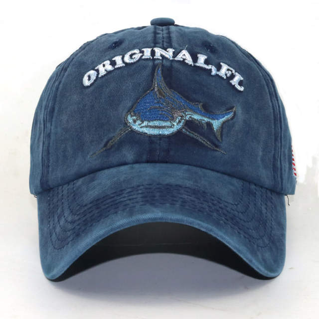 brand hats Black Rebel Men s Baseball Cap Cotton washed retro Shark Hat  Caps Women Snapback Hats f3cc767e2a8f
