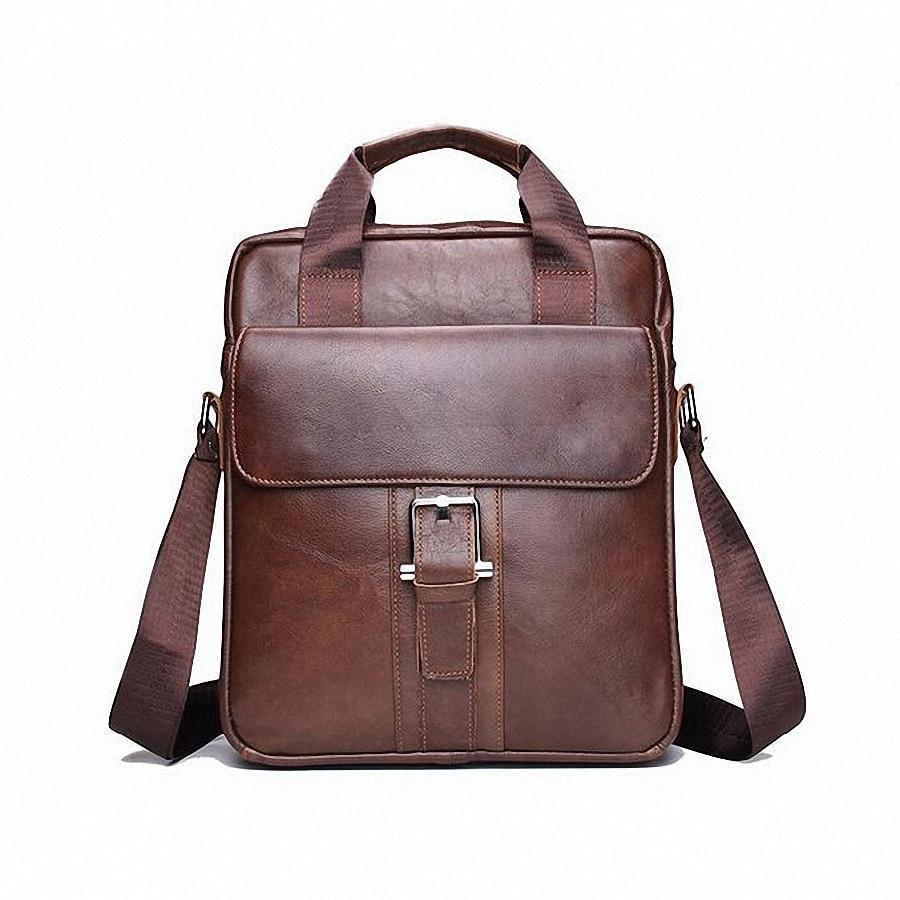 2016 Fashion Genuine Leather Men s Messenger Bags Man Portfolio Office Bag Quality Travel Shoulder font